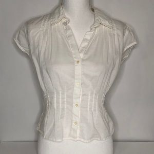 Tommy Hilfiger White SS Blouse Button Up Small